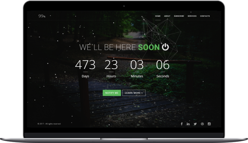 99% - Responsive Coming Soon Page HTML - 1
