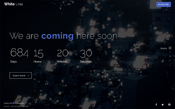 White Line - Responsive Coming Soon Page HTML - 1